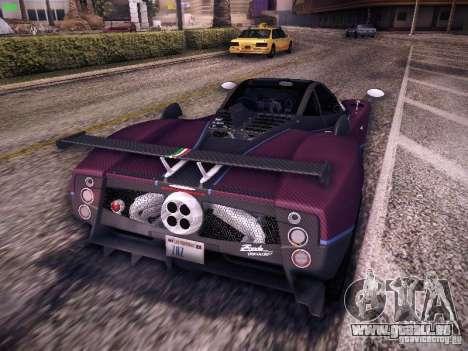 Pagani Zonda Tricolore 2010 pour GTA San Andreas vue arrière
