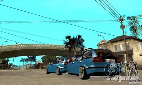 Remorque pour la Volvo V40 pour GTA San Andreas sur la vue arrière gauche