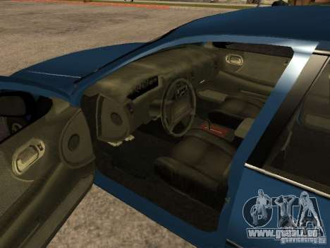 HD Kuruma pour GTA San Andreas sur la vue arrière gauche
