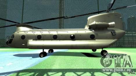 CH-47 pour GTA 4 Vue arrière de la gauche