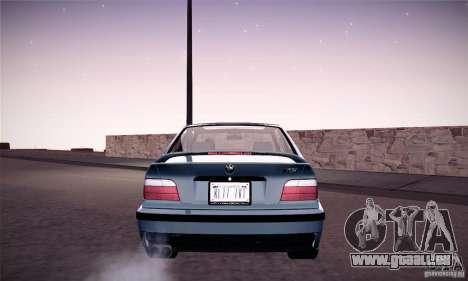 BMW E36 M3 Coupe - Stock für GTA San Andreas zurück linke Ansicht