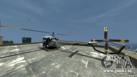 Sparrow Hilator pour GTA 4 Vue arrière de la gauche
