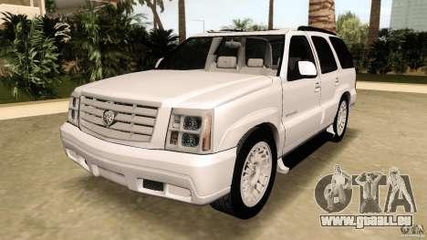 Cadillac Escalade pour GTA Vice City vue arrière
