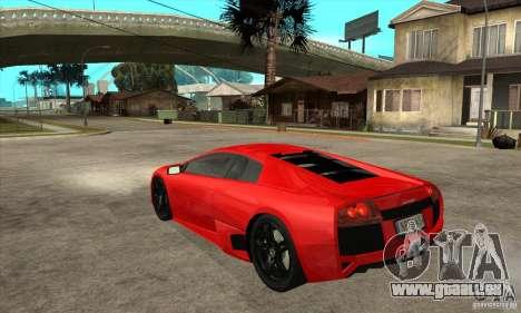 Lamborghini Murcielago LP640 pour GTA San Andreas vue de droite