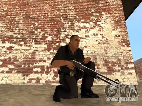 Chrome and Blue Weapons Pack pour GTA San Andreas deuxième écran