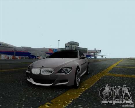 BMW 6 Series M pour GTA San Andreas laissé vue