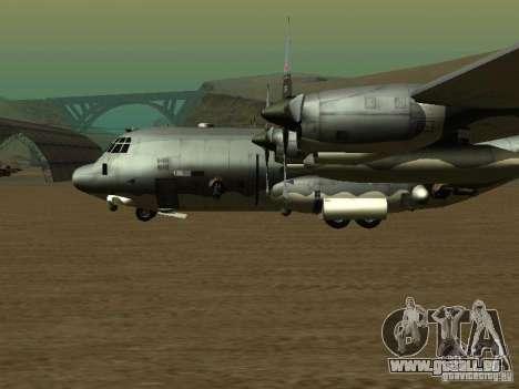 AC-130 Spooky II pour GTA San Andreas sur la vue arrière gauche