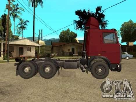 MAZ 642208 für GTA San Andreas zurück linke Ansicht