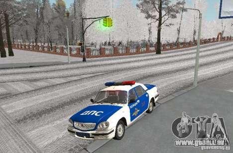 DPS VOLGA GAZ-31105 v2.0 pour GTA San Andreas laissé vue