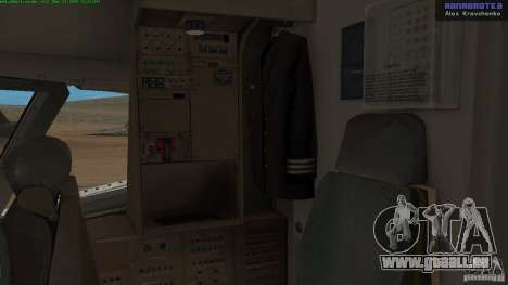 Boeing 757-200 Final Version pour GTA San Andreas vue intérieure
