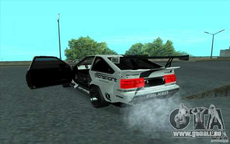 Toyota Corolla AE86 Shift 2 pour GTA San Andreas vue intérieure