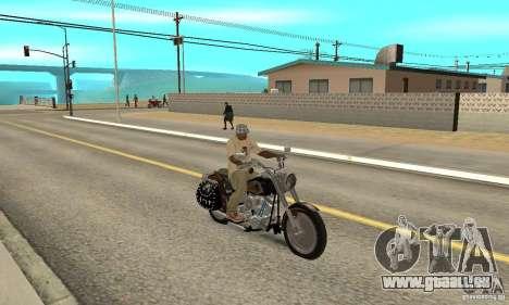 Harley Davidson FLSTF (Fat Boy) v2.0 Skin 5 pour GTA San Andreas vue de droite