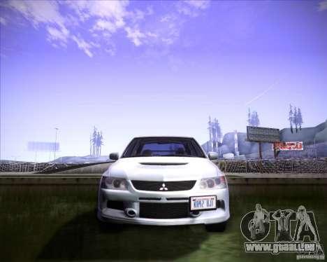 Mitsubishi Lancer Evolution VIII MR für GTA San Andreas Rückansicht