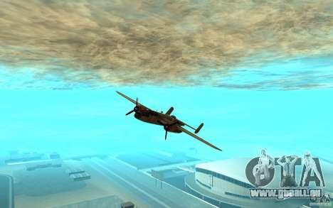 B-25 Mitchell pour GTA San Andreas laissé vue