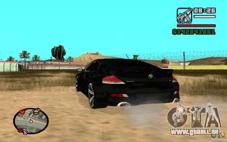 BMW M6 2006 pour GTA San Andreas vue de droite