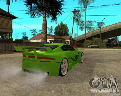 Aston Martin Vantage V8 - Green SHARK TUNING! pour GTA San Andreas sur la vue arrière gauche