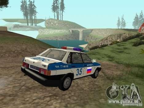 VAZ 21099 DPS pour GTA San Andreas vue intérieure
