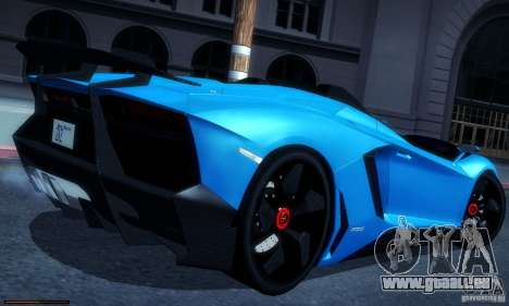 Lamborghini Aventador J für GTA San Andreas linke Ansicht