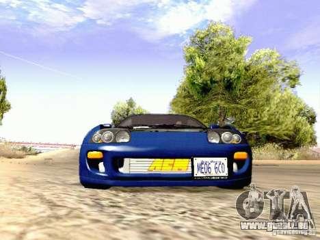 Toyota Supra Drift Edition pour GTA San Andreas vue intérieure