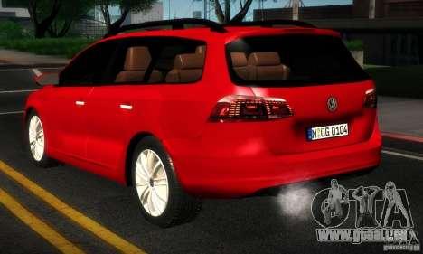 Volkswagen Passat B7 2012 für GTA San Andreas rechten Ansicht