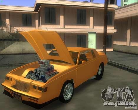 Buick GNX pro stock pour GTA San Andreas sur la vue arrière gauche