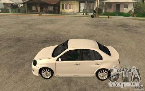 Volkswagen Jetta 2008 pour GTA San Andreas laissé vue