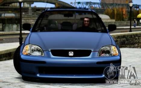 Honda Civic Vti pour GTA 4 est une vue de l'intérieur