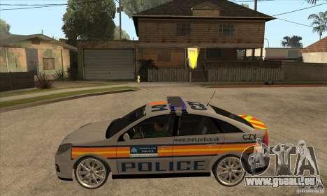 Opel Vectra 2009 Metropolitan Police pour GTA San Andreas laissé vue