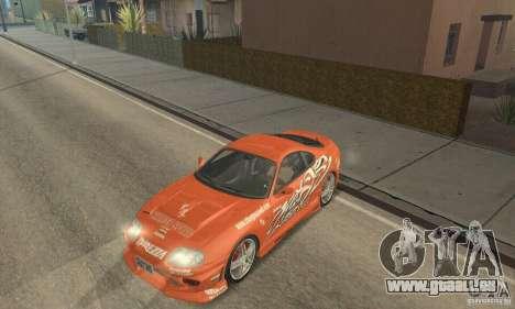 Toyota Supra Tunable 2 pour GTA San Andreas salon