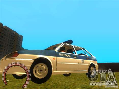 Ваз 2114 russische Polizei für GTA San Andreas linke Ansicht