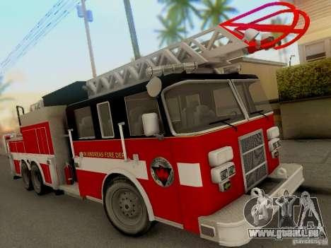 Pierce Firetruck Ladder SA Fire Department für GTA San Andreas linke Ansicht