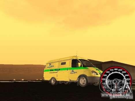 Gazelle du collecteur pour GTA San Andreas vue de dessus