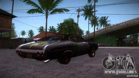 Chevrolet Chevelle SS DC pour GTA San Andreas vue de droite