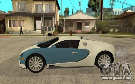 Bugatti Veyron Final für GTA San Andreas linke Ansicht