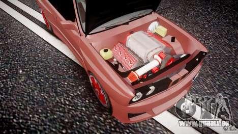 BMW E30 v8 pour GTA 4 vue de dessus