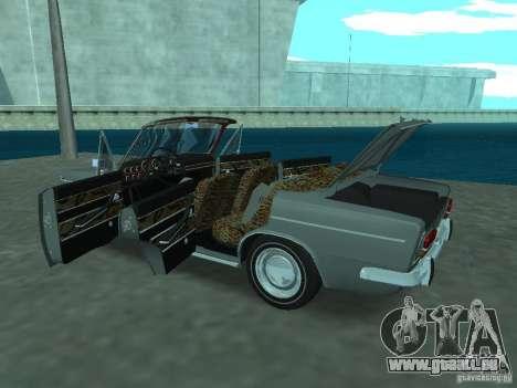 VAZ 2103 Cabrio pour GTA San Andreas vue intérieure