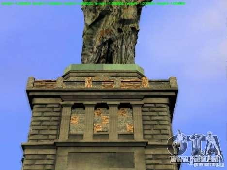 Statue de la liberté 2013 pour GTA San Andreas neuvième écran