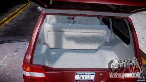 Toyota Land Cruiser 100 Stock pour GTA 4 vue de dessus