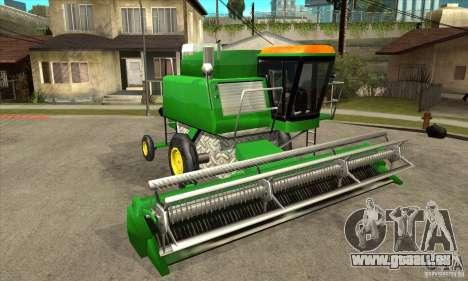 Combine Harvester Retextured pour GTA San Andreas vue arrière