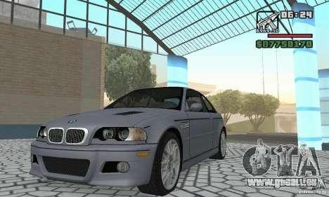 BMW M3 Tunable pour GTA San Andreas laissé vue