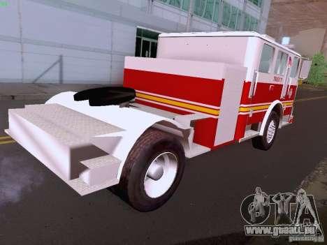 Seagrave Tiller Truck für GTA San Andreas Seitenansicht