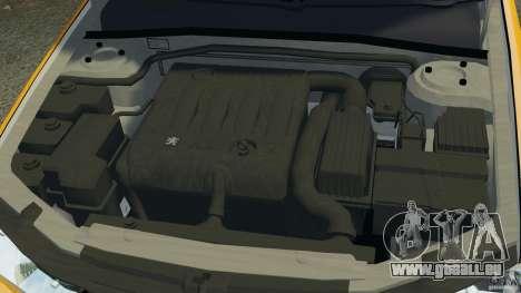 Peugeot 406 Taxi pour GTA 4 vue de dessus