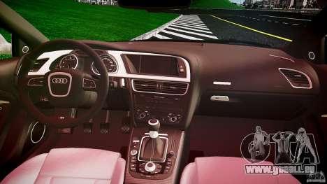 Audi S5 Hungarian Police Car black body pour GTA 4 Vue arrière