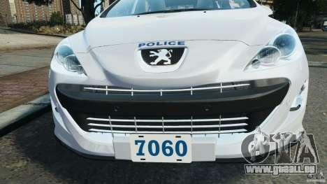 Peugeot 308 GTi 2011 Police v1.1 pour le moteur de GTA 4