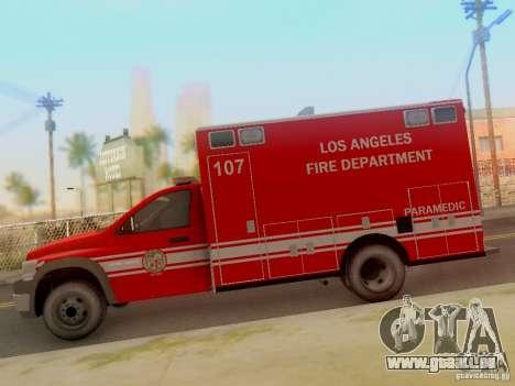Dodge Ram 1500 LAFD Paramedic für GTA San Andreas linke Ansicht