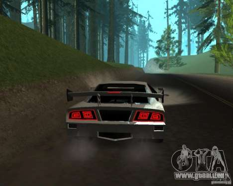 Azik Turismo pour GTA San Andreas sur la vue arrière gauche