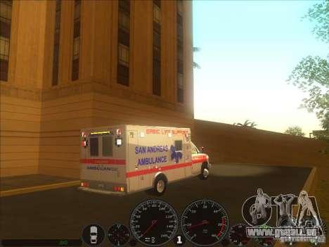 Ford E-350 Ambulance 2 pour GTA San Andreas sur la vue arrière gauche
