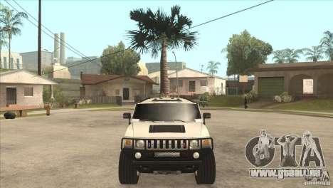Hummer H6 pour GTA San Andreas vue intérieure
