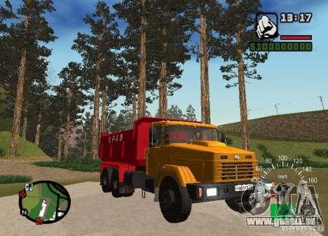 Camion KrAZ 65055 pour GTA San Andreas vue arrière
