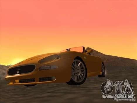 Maserati Spyder Cambiocorsa pour GTA San Andreas laissé vue